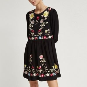 French Connection Saya Crepe Flared Dress